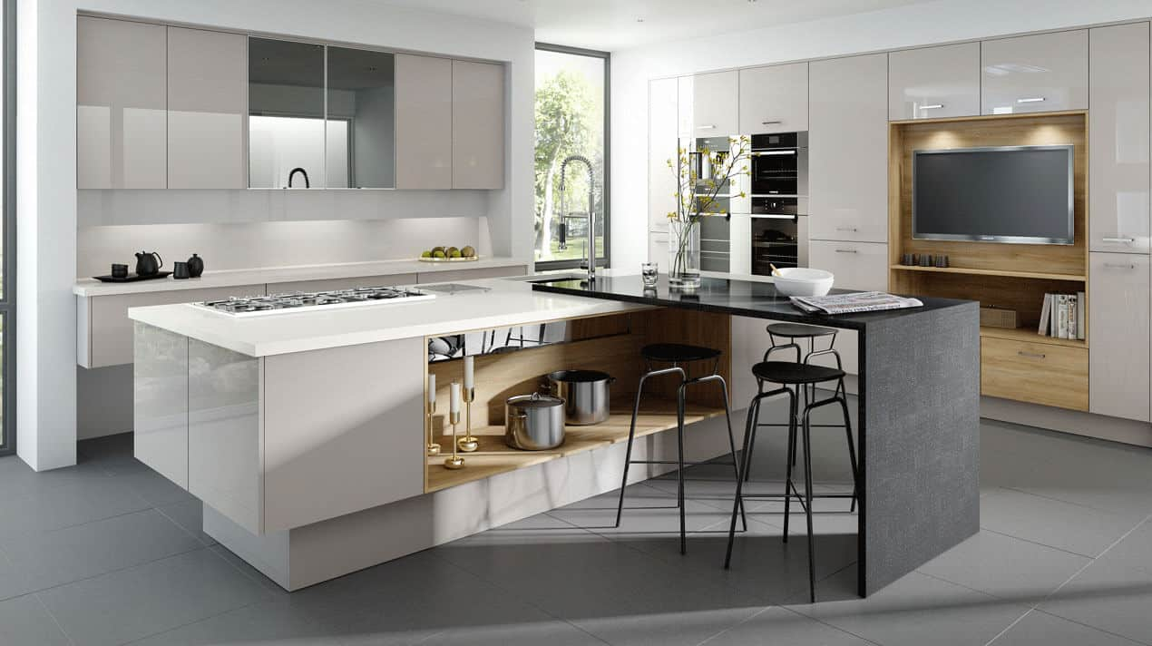Mattonella Gloss Cashmere Kitchen