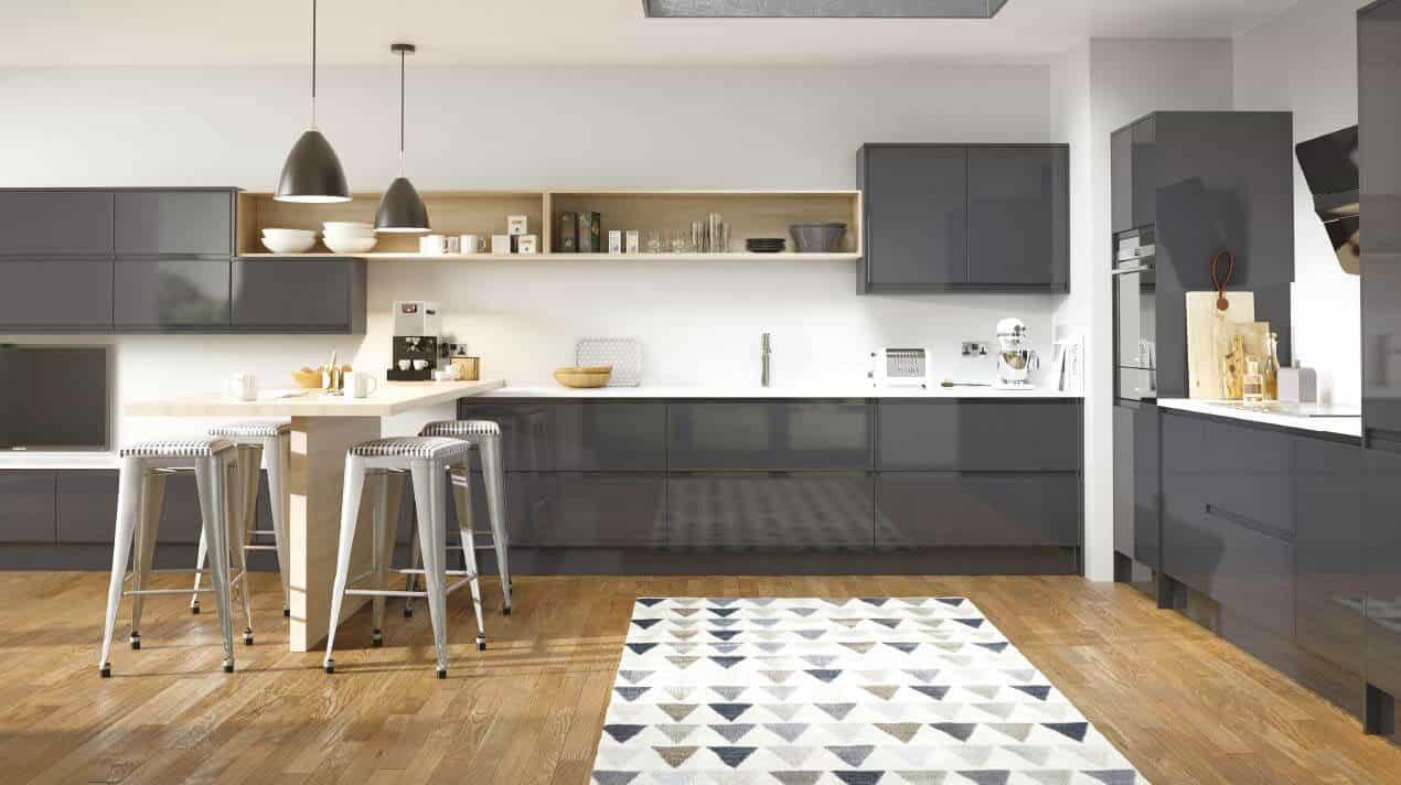 Savoy Limestone and Anthracite Kitchen