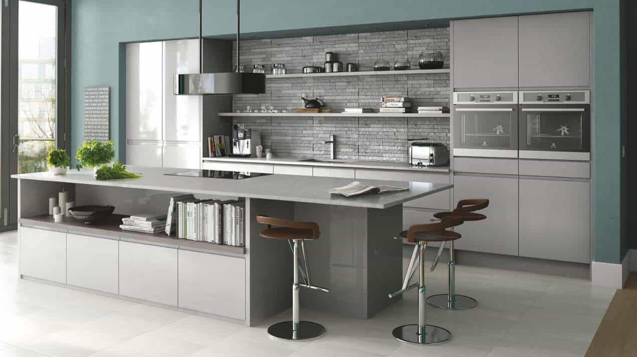 In-Line Gloss Grey Kitchen